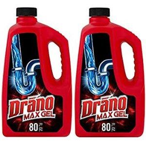 $8.48Drano 下水道疏通凝胶, 80 fl oz  2瓶装