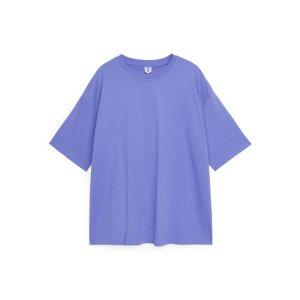 arket李梦同款紫色T恤