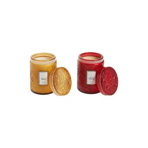 Voluspa雪松檀香+枸杞血橙迷你香薰蜡烛2件套