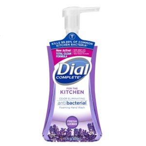 Dial Complete Antibacterial Foaming Kitchen Hand Soap, Fresh Lavender, 7.5 Fluid Ounces