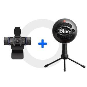 $119 带主播套餐送XSplit软件Logitech C920 摄像头 + Snowball iCE 麦克风 套装