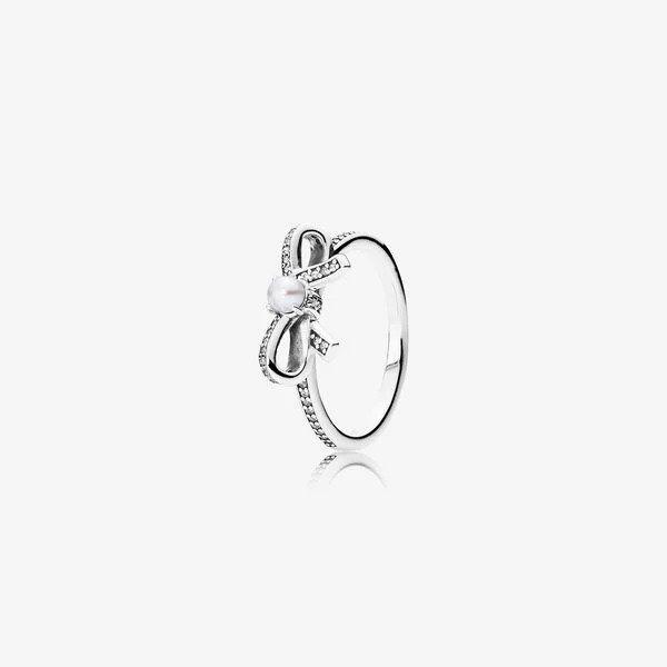 珍珠蝴蝶结戒指