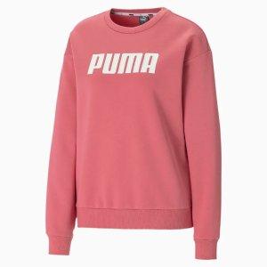 Puma蜜桃色圆领卫衣