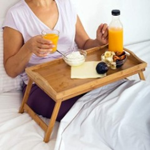 Home-it Bed Tray table with folding legs