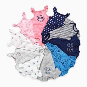 5折 单件$1.85起Carters 宝宝连体套装惊喜价 性价比和舒适透气都是No.1