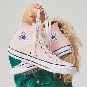 额外7折+包邮 收超美花边款、桃心款Converse官网运动鞋服折上折 粉色kitty低帮$24