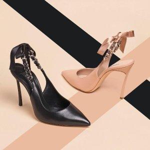 无门槛5折 超美高跟鞋£217起Casadei 意大利手工美鞋季中大促 霉霉,贝嫂的选择