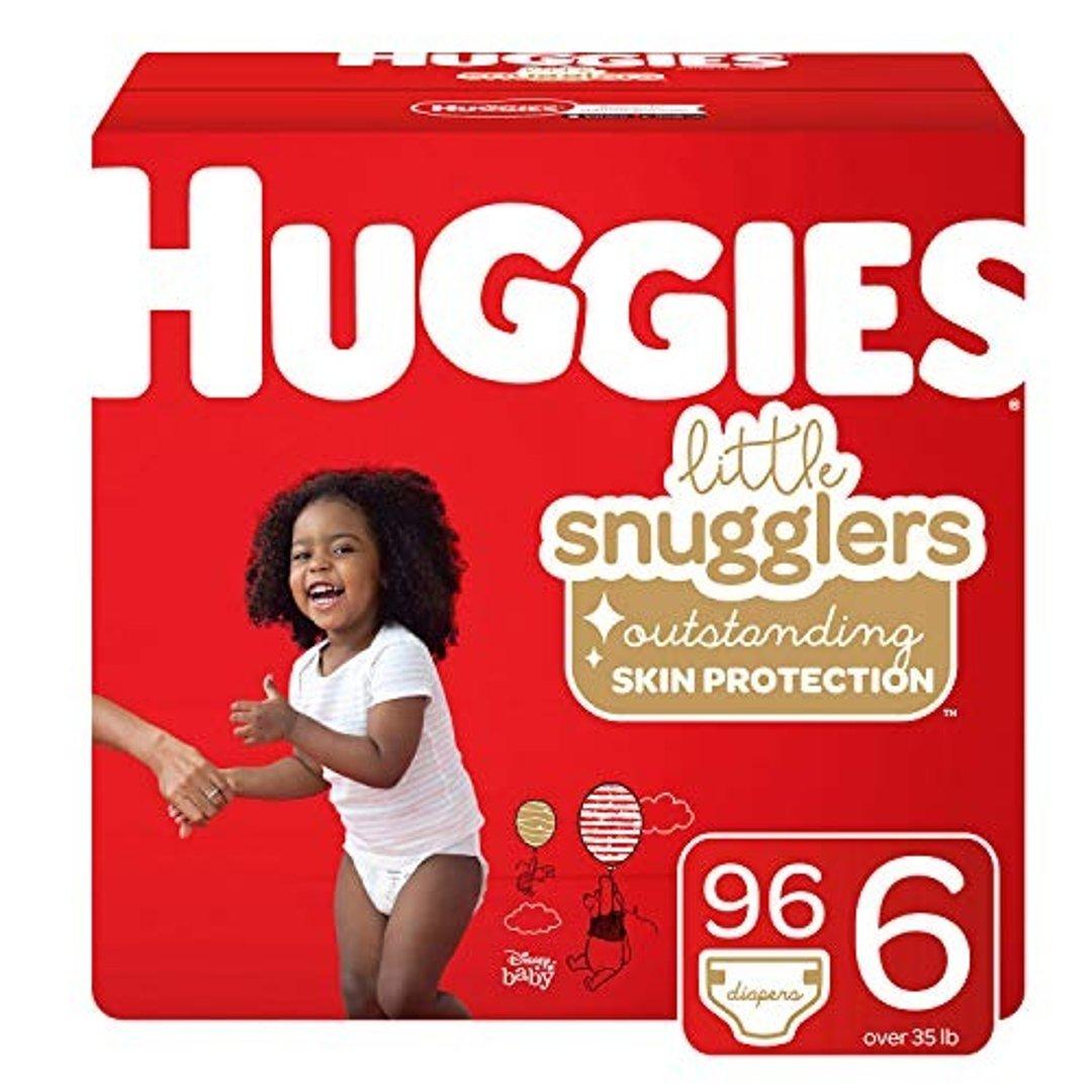 Little Snugglers 6 (35+ lb.)号尿不湿, 96 片