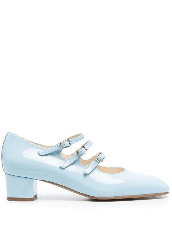 天空蓝玛丽珍鞋