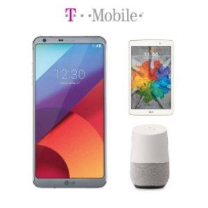 $500($20/月) 送Google HomeLG G6 32GB 智能手机 + 16GB LG G Pad X平板电脑套装