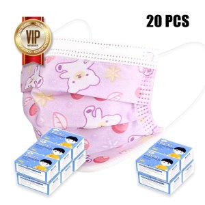 Second day delivery6 Pack (20 pcs each pack) Disposable Kids Mask 3 Layer Protection With Free 4 box (20 pcs each pack) Disposable Kids Mask 3 Layer Protection