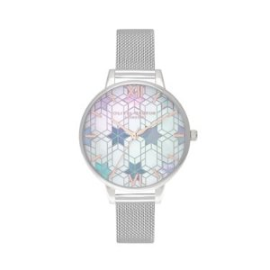 Olivia Burton银色冰雪女皇手表