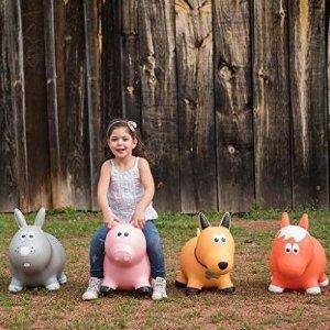 $19.99 (原价$29.99)Farm Hoppers 充气式儿童跳跳乐/卡通动物坐骑玩具