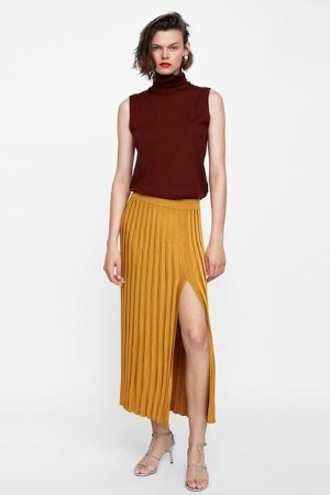 RIBBED SKIRT WITH VENT - View All-SKIRTS-WOMAN | ZARA United States