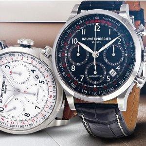 仅$1549.99(原价$4500)Baume & Mercier 瑞士顶级腕表世家 高级男士腕表 变相3.4折