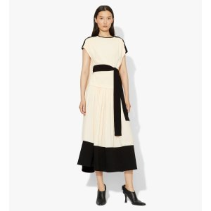 Proenza Schouler-Short Sleeve Combo Cape Dress | Sale Has Ended