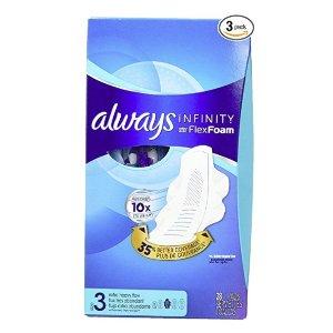$16.41Always Infinity Feminine Pads with Wings, Super Absorbency