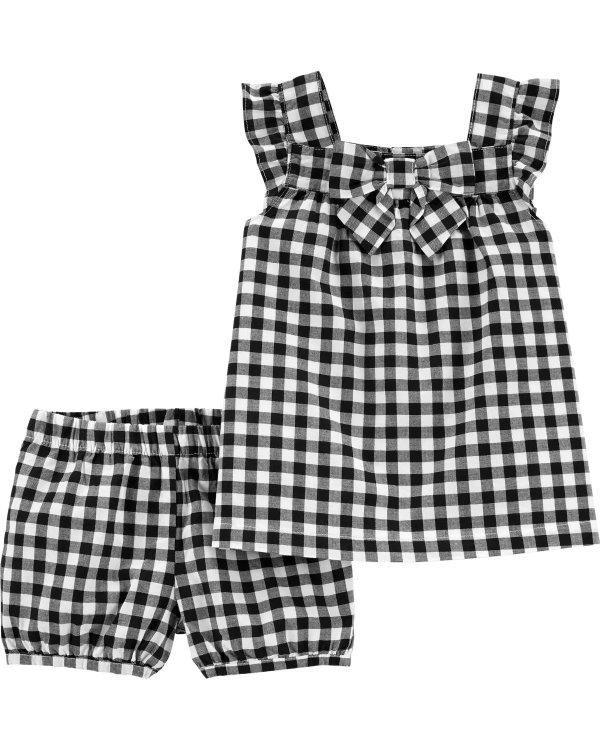 婴儿格纹套装