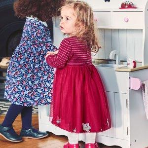 JoJo Maman BebeGirls' Berry Bunny Party Dress