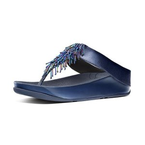 FitFlopLeather Toe-Post Sandals