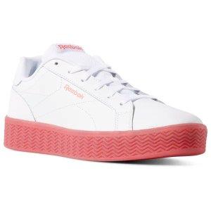 Reebok白色粉底运动鞋
