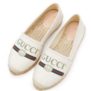 封面同款渔夫鞋仅£355 手慢无码Gucci 美鞋上新 铆钉小白鞋、小蜜蜂系列、乐福鞋都有