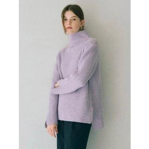 OIAUER薰衣草紫毛衣