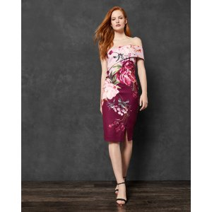 Ted BakerIRLINA 露肩印花裙