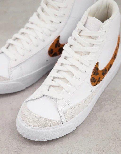 Blazer Mid '77豹纹运动鞋