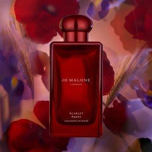 $180 限定宝石红瓶 送香氛24ml上新:Jo Malone Scarlet Poppy浓香古龙 绯红罂粟迎新年