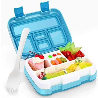 Hometall Lunch Box for Kids with Spoon, Leakproof 5 Compartments Food Container