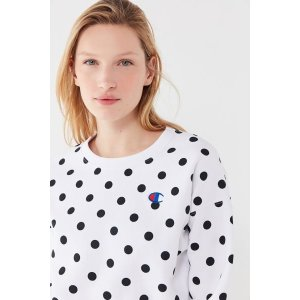 2661f103b2 ChampionUO Exclusive Polka Dot Crew Neck Sweatshirt.  17.50  59.00. Champion  UO ...