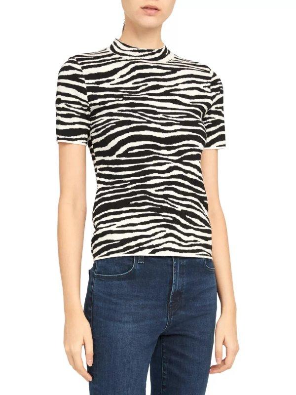 斑马纹T恤