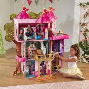 $85.99包邮 原价$99.9914件套 KidKraft Storybook Mansion 娃娃屋