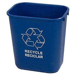 现价$6.16(原价$16.18)Carlisle 蓝色回收垃圾桶 28 Quart