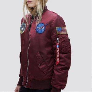 5折起 NASA短袖仅£28Alpha Industries 闪促 潮人速收大火飞行员夹克、工装外套