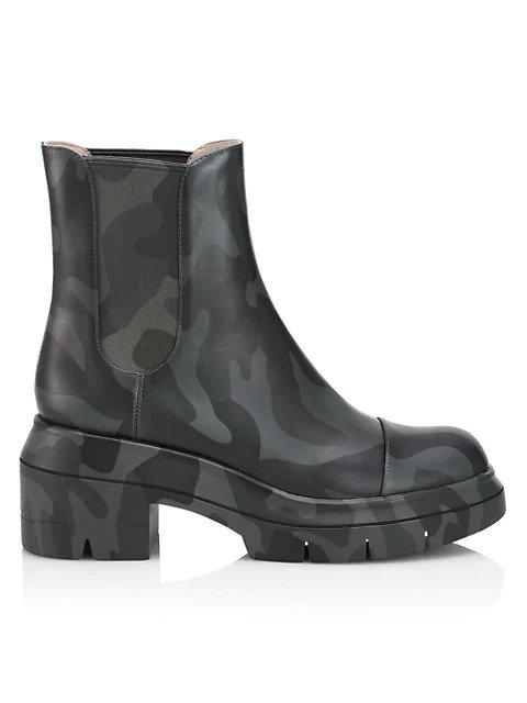 迷彩切尔西靴
