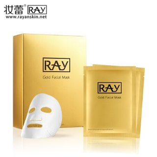 到手¥49.5/盒RAY 金色蚕丝面膜 10片*3盒