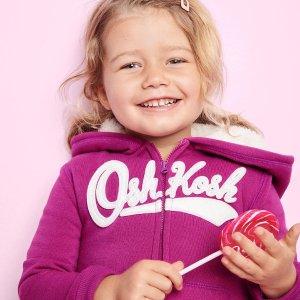Oshkosh女童、大童内里绒卫衣