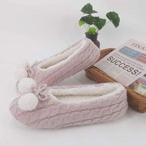 多色选 $9.99 (原价$36.69)ofoot 针织居家拖鞋热卖 温暖抓绒 防滑舒适