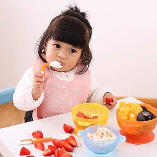 Amazon CUTE STONE Baby Utensils Spoons Forks 3 Sets