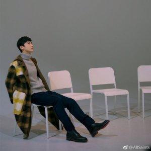 ALLSANTS白敬亭相似款灰色毛衣
