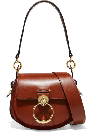 Celebrity StyleTess Small Leather and Suede Shoulder Bag @NET-A-PORTER