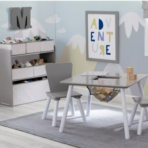 Delta Children 儿童桌椅+收纳柜四件套装