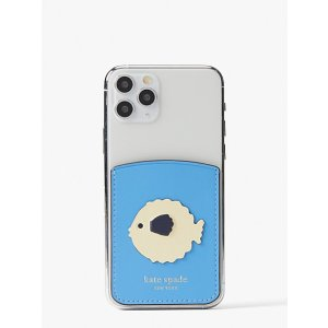 Kate Spadepuffer fish sticker pocket