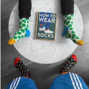 单双低至€5.99Happy Socks 折扣热卖 必备潮袜 个性搭配都靠它