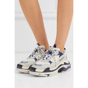 Triple S 白紫配色老爹鞋
