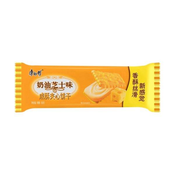 康师傅 咸酥夹心饼干 奶油芝士味 80g