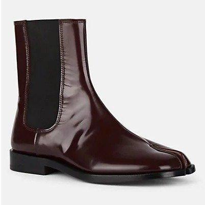 Tabi Patent Leather 切尔西靴