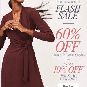 60% Off + Extra 10% OffAnn Taylor Factory Season-to-season Styles